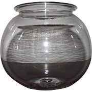 "Civil War Period ""Free-Blown Leech Jar"" Circa 1860 with Pontil Scar on bottom !"
