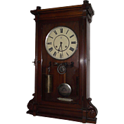 """RARE Seth Thomas """"Lincoln"""" Model Solid Walnut Shelf Clock with Time & Strike powered by 4 Brass Compound Pulleys & 2 Weights !!! Circa 1880."""