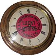 "Authentic ""Lucky Strike"" Advertising Gallery 8 Day Clock with Time & Strike on each Hour !!! Circa 1910 to 1940."
