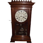 "RARE Seth Thomas ""Garfield"" Model Solid Walnut Shelf Clock with Time & Strike powered by 2 Nickel Plated Weights and 4 Compound Pulleys !!! Circa 1885."