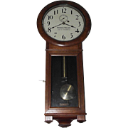 "Early ""Virginian Railway"" Seth Thomas #2 Regulator Clock with 3 Piece Bottom in a Pristine Walnut Case made in 1887 !!!"