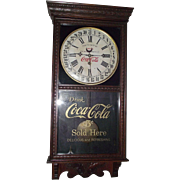 """Authentic """"Coca Cola"""" &  """"F.W. Woolworth"""" Store Advertising Regulator with Calendar Date made by Wm. L. Gilbert Clock Co. Circa 1925 !!!"""