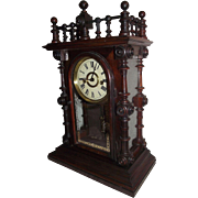 "Rare ""Gerster V.P."" Ornate Model Rosewood Shelf Clock made by the Welsh Clock Co. Circa 1875 !!!"