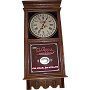 "Authentic ""Dr. Pepper"" Soda Advertising Store Regulator with Calendar Date made by the Ingraham Clock Co. Circa 1925 !!!"