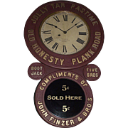 """""""Jolly Tar Tobacco * Finzer Bros."""" Advertising Clock with Original Dial Signed """"Edw. P. Baird * Montreal"""" Plus 4 Tobacco Advertising Relics included !!!"""