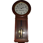 "Authentic ""Pennsylvania Railroad"" marked Seth Thomas # 2 Wall Regulator Clock in Superb Oak Case !!! WW-2 Period Circa 1942."