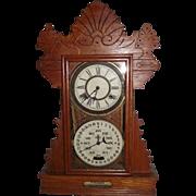 """Rare Feichtinger Calendar Clock in a Golden Oak """"Herndon"""" Model Case Circa 1905 !!!"""