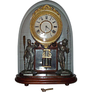 "Rare ""Crystal Palace No. 1 Extra"" Model Mantle Clock made by Ansonia, with the Original Oval Glass Dome Circa 1890 !!!"