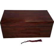 """Colonial American Mahogany """"Travel Desk"""" with secondary Pine & Poplar Woods !!!"""