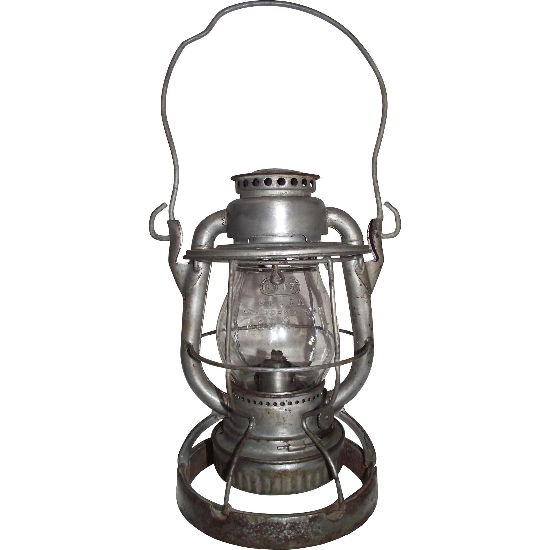 "Weighted ""Reading Company Locomotive Dept."" Railroad Lantern with original ""R. Co."" Globe !!!"