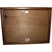 """Rare """"Solid Tiger Maple"""" 8 by 10 3/4 inch Picture Frame ! Great for matting an 8 X 10 photo."""