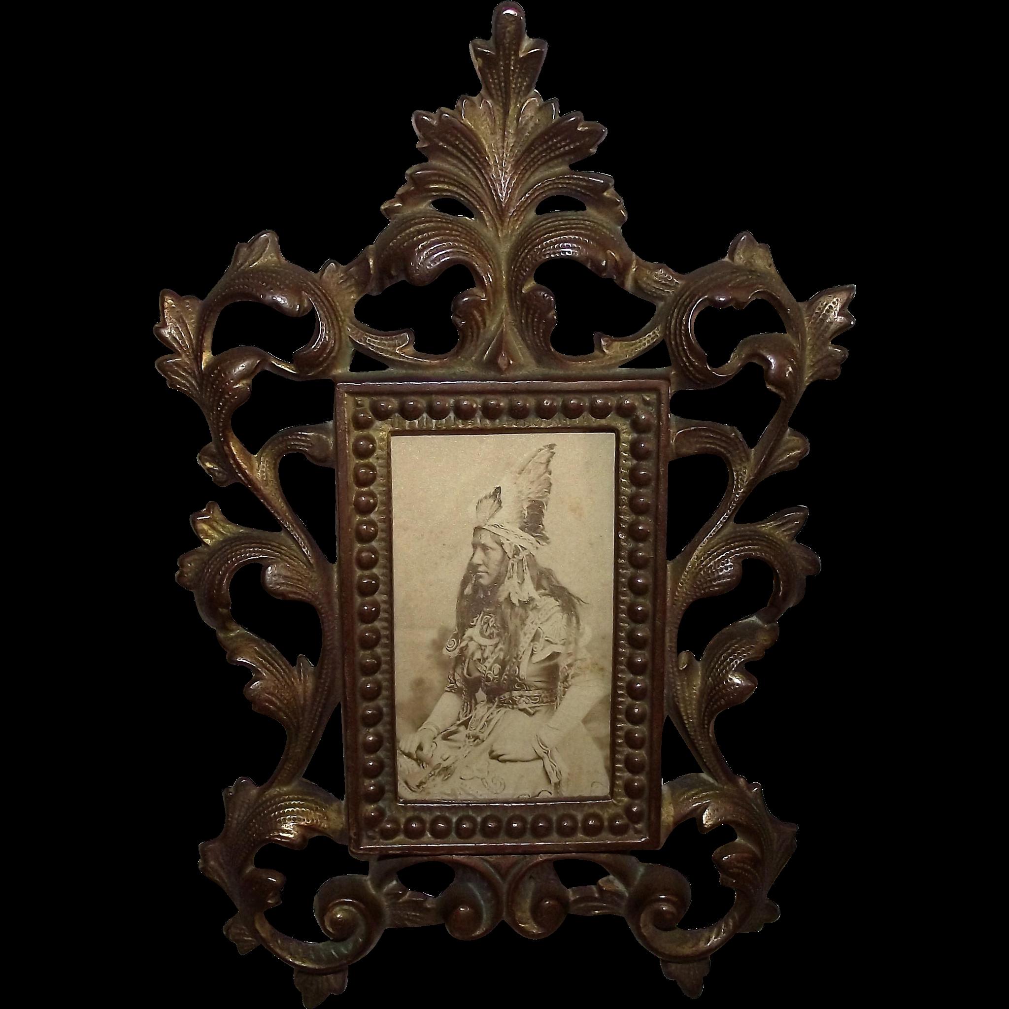 "Armed ""Indian Princess"" CDV Photo from NY. Photographer Circa 1890 !!!"