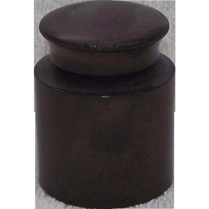 "Civil War Period ""Traveler's Ink Well"" made of Gutta Perch, aka India Rubber Circa 1860 !!!"