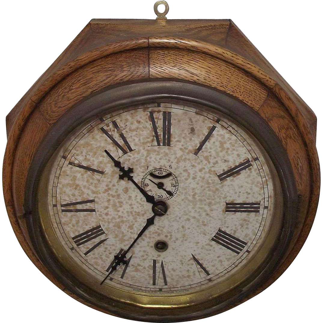 """Oak Lever"" Model 8 Day Waterbury Ship's Clock Circa 1917 !!!"
