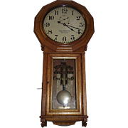 "Rare ""The Webb C. Ball Co. Jewelers Cleveland,O.""  S/T  #3 Regulator Clock from the Baltimore & Ohio Railroad !!! Circa 1910 to 1920."