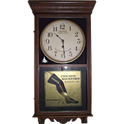 "Historic ""Hailman St. General Store & Cooper Leather Stockings"" Advertising Clock Circa 1914 !!!"