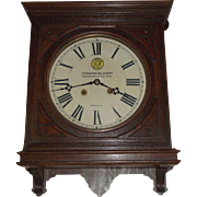"""Virginian Railway"" Gallery Clock Office #5 Model made by Seth Thomas Clock Co. with Time & Strike !!! Clock is Circa 1910"
