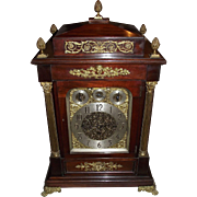 Monumental English Musical Movement Bracket Clock which plays 8 Bells, or 5 Chime Coils Selectively !!! Circa 1880.
