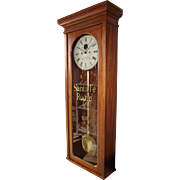 "Solid Mahogany ""Santa Fe Southern Railway"" Clock Model 89 made by the ""E. Howard Clock Co. * Boston"" made Circa 1889 !!!"