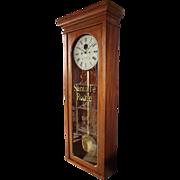 """Solid Mahogany """"Santa Fe Southern Railway"""" Clock Model 89 made by the """"E. Howard Clock Co. * Boston"""" made Circa 1889 !!!"""