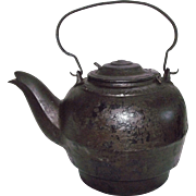 "Rare Civil War Period marked ""Smith, Francis & Wells * Springville,Pa. 1862"" Cast Iron Tea Pot !"