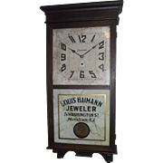 "Authentic ""Louis Heimann Jeweler * Morristown,NJ."" Advertising Store Regulator Clock Circa 1935 !!!"