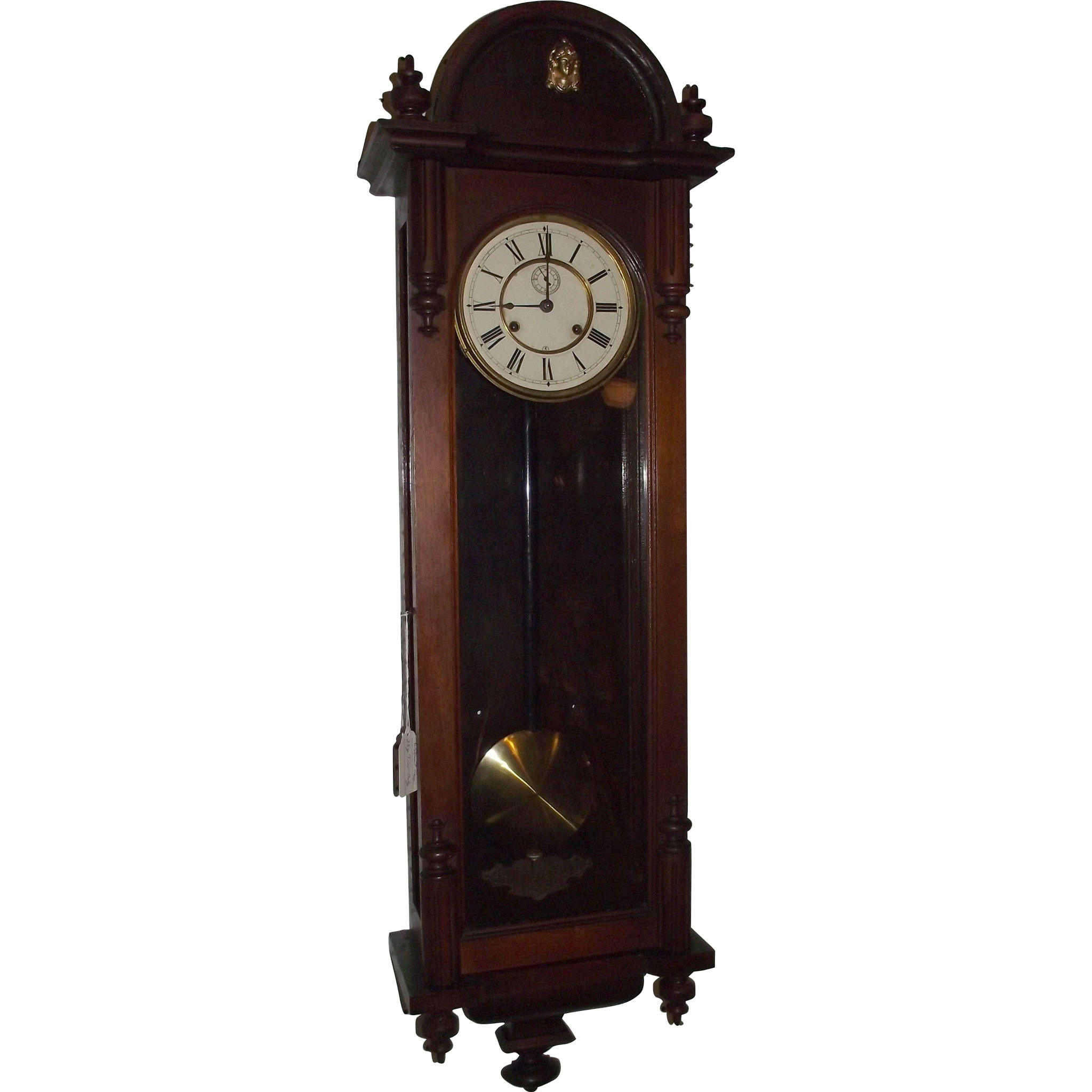 "Ansonia  ""Capitol"" Model Walnut Regulator Circa 1903 !!!"