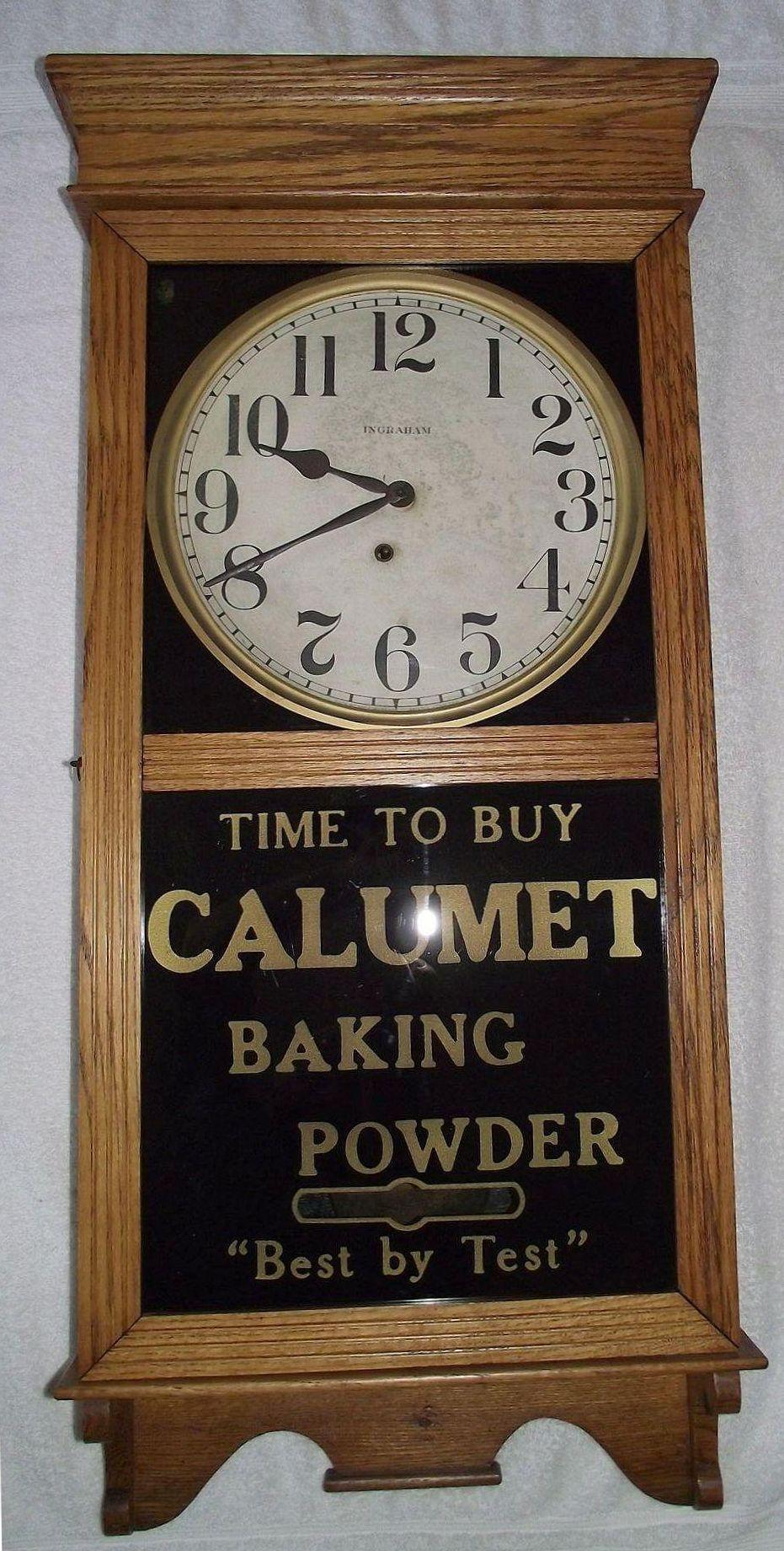 Advertising store regulator clock marked calumet baking powder roll over large image to magnify click large image to zoom amipublicfo Choice Image