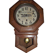 "Historic ""American Electric Telephone  Company"" Short-Drop Advertising Regulator Clock made by Sessions Clock Co. Circa 1910 !!!"