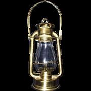 "Ham's Brass ""GEM No. 00"" Model Hand Lantern Circa 1888 to 1914 !!!"