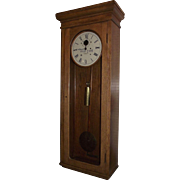 """Pennsylvania Railroad * E. Howard Model No. 89 Clock in Original Solid Oak Regulator Case !!!"