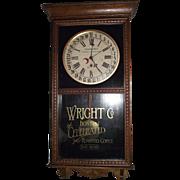 """Seaside Hotel * Atlantic City,NJ."" Clock Advertising ""Boston Coffee"" on lower Glass Tablet !!!  Circa 1920."