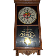 "Super 5 Cent ""Pepsi-Cola"" Advertising Clock made by the Sessions Clock Co. with a Solid Oak Case Circa 1925 !!!"