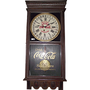 "Authentic ""Coca Cola"" Advertising Store Regulator Clock with Calendar Date made by the Ingraham Clock Co. Circa 1925 !!!"