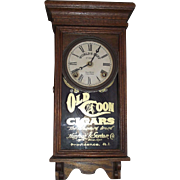 """Old Coon Tobacco"" Advertising Clock, made by Sessions Clock Co. in a Solid Oak Case Circa 1920 !!!"