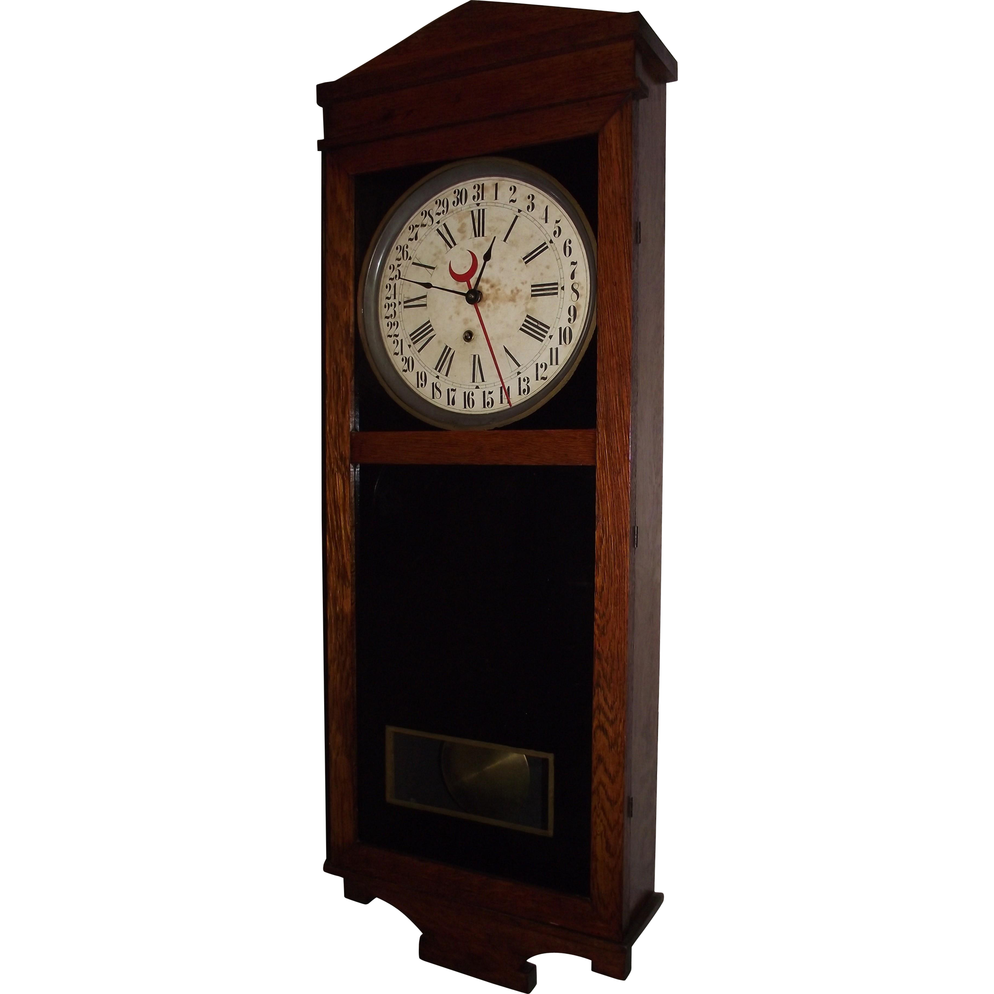 "Elverson,Pa. Country Store Clock ""Landau"" Model made by ""E. Ingraham Clock Co."""