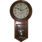 "Pristine Oak Case ""Admiral Model""  30 Day Long-Drop Regulator made by Waterbury Clock Co. Circa 1906 !!!"
