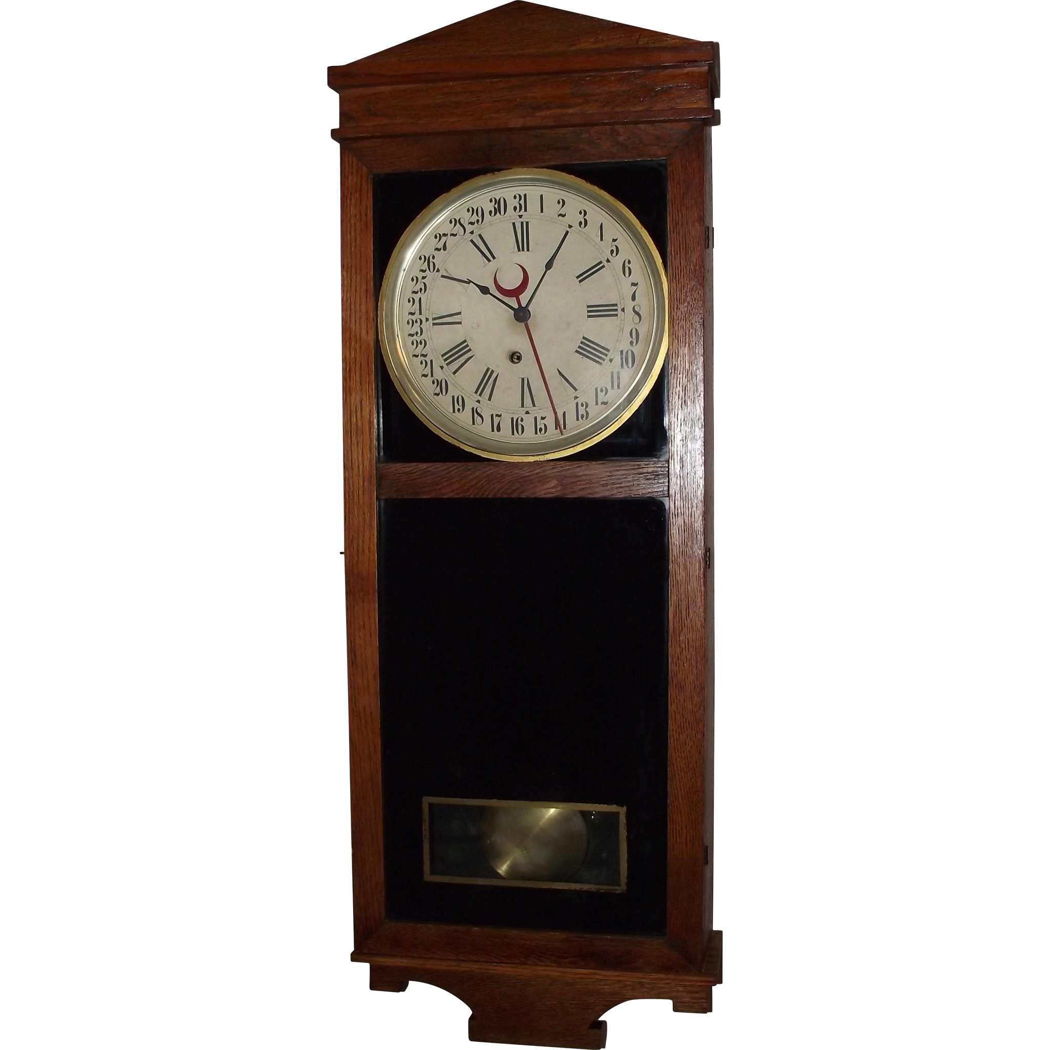 """Your Business Name"" could be on this Advertising Store Regulator Clock ""Landau"" Model made by ""E. Ingraham Clock Co."" Circa 1916 !!!"