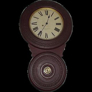 "Baird ""Saranac"" Model Wall Clock Circa 1892 !!!"