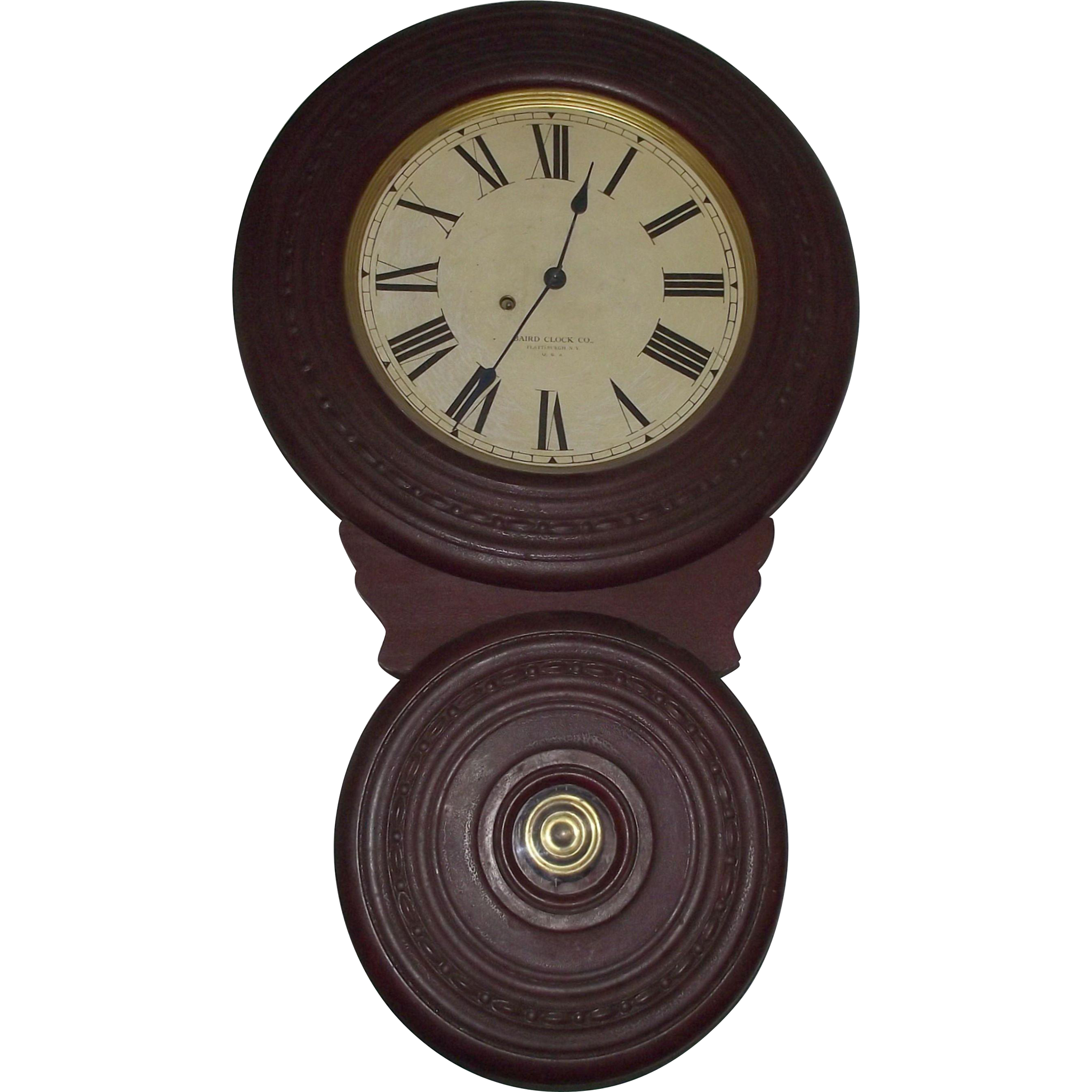 "Rare Baird ""Saranac"" Model, Domestic Non-Advertising Wall Clock Circa 1892 !!!"