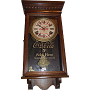 "Authentic ""Coca Cola Salesman Sample"" small size Advertising Clock Circa 1920 !!!"
