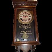 "Authentic ""Coca Cola Salesman Sample"" small size Advertising Clock Circa 1920 !!!"