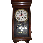 "Authentic ""Coca Cola Salesman Sample"" size Advertising Clock  made by Waterbury Clock Co.  !!!"