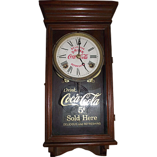 "Authentic ""Coca Cola Salesman Sample"" size Advertising Clock, with FREE SHIPPING inside USA !!!"