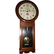 "Early ""Union Pacific"" Railway Seth Thomas #2 Regulator Clock with 3 Piece Bottom in a Pristine Walnut Case circa 1913  !!!"