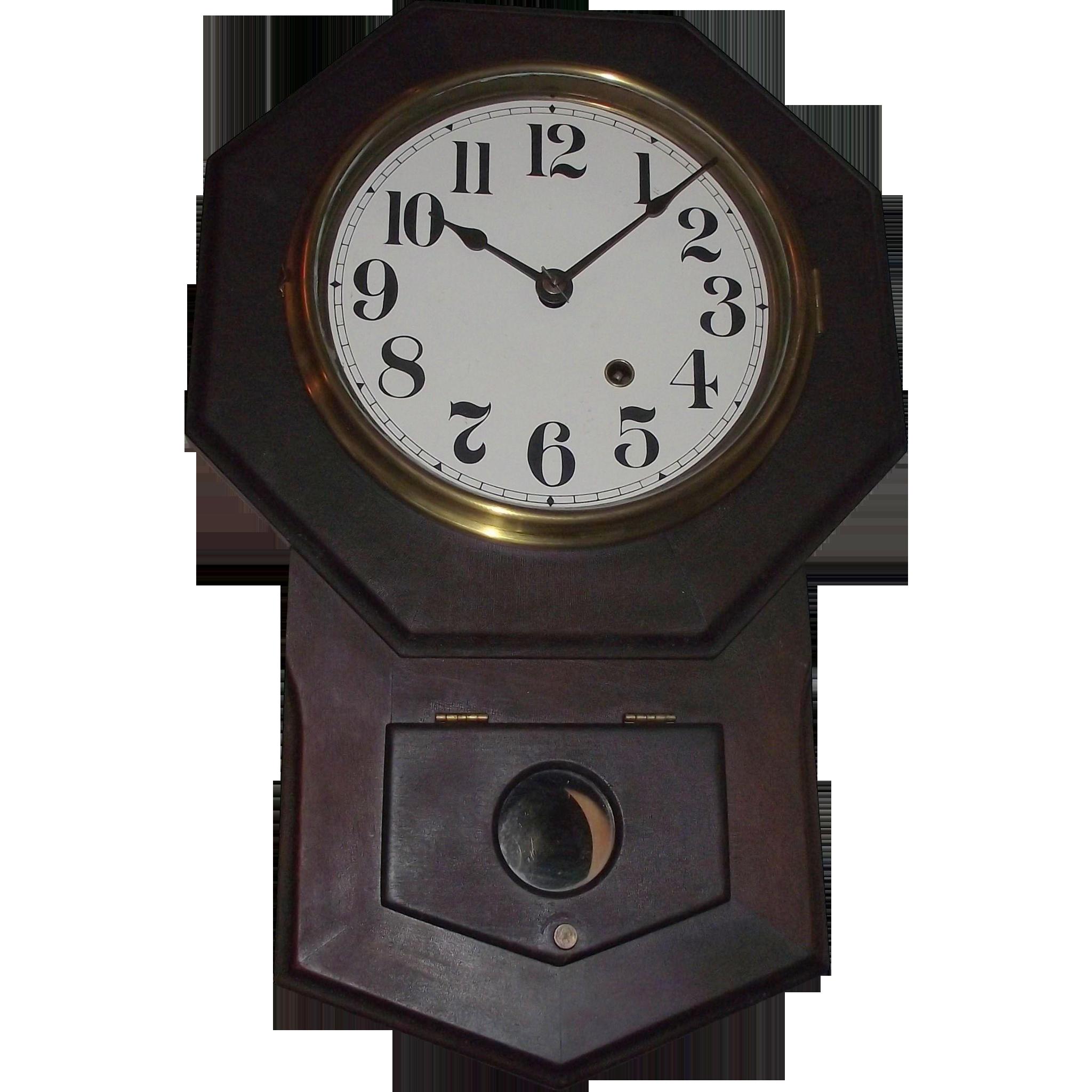 Original Seth Thomas Octagon 8 inch Short Drop Wall Clock in