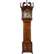 "Historic Revolutionary War Period Signed ""Eli Bentley * West Whiteland"" Chester County,Pa. Walnut Chippendale Tall Case Clock made between 1774 to 1778 !!!"