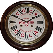 "Authentic ""Coca Cola"" Advertising Gallery Clock with early Trade Mark on Dial circa 1920's !!!"