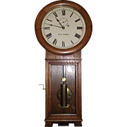 Seth Thomas Model #2 Wall Regulator, in Solid Oak Case, with 36 inch Long Case, and 3 Piece Bottom circa 1913 to 1922 !