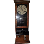 """Large """"Southern Pacific Railroad"""" Workers Time Clock Dated 1926 !!!"""